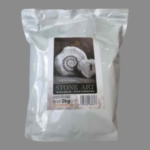 Stone Art Air dried clay for creating textural effects, when mixed with Powertex Universal Medium, in your artwork - 2kg