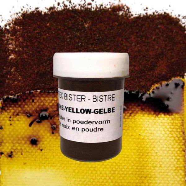 0280-Bister-Powder-Yellow-40ml-with-Colour-Swatch-Powertex-Australia