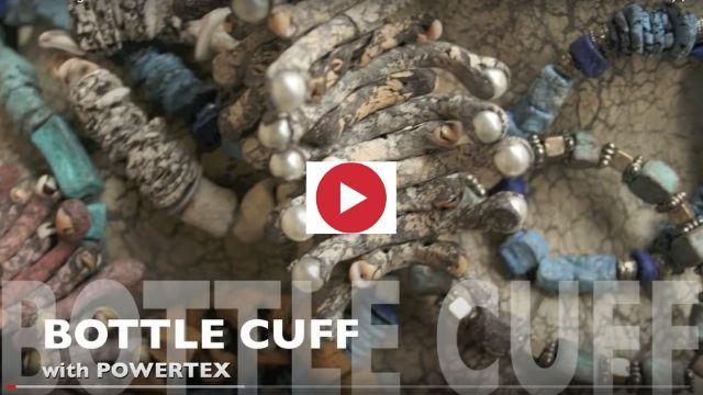 'Bottle Bling' with Powertex Fabric Hardener