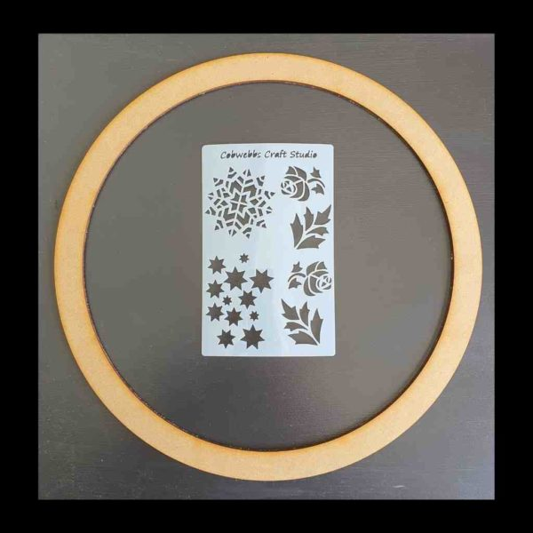 Christmas Wreath Kit ring and mini stencil