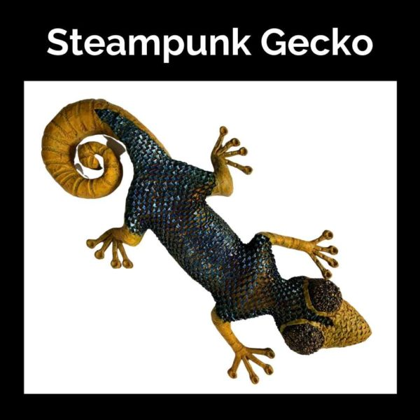Steampunk-Gecko-DIY-Art-Tutorial-Powertex-Australia