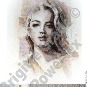 "A3 Art Print of ""Natasha"" to use for photo transfers or collage - Powertex Australia"