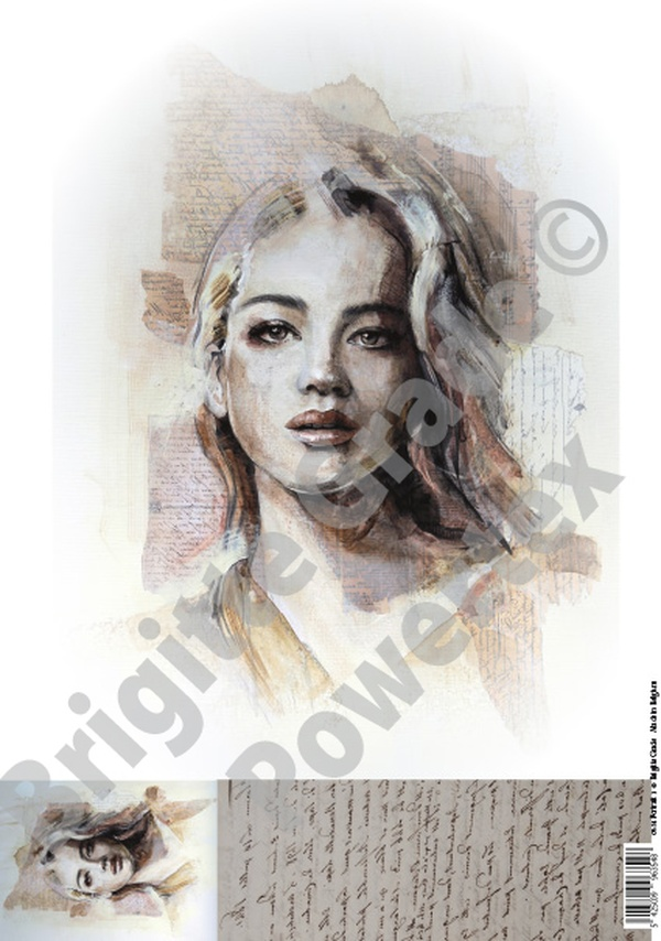 "A3 Art Print of ""Natasha"" to use for photo transfers or collage - Powertex Australia"