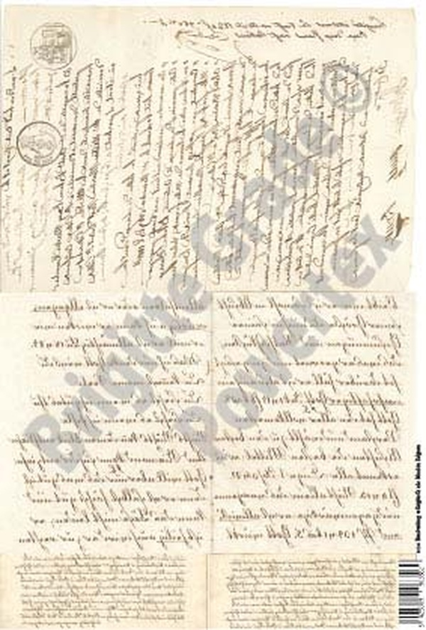 A3 Art Print of Old Handwriting to use for photo transfers or collage - Powertex Australia