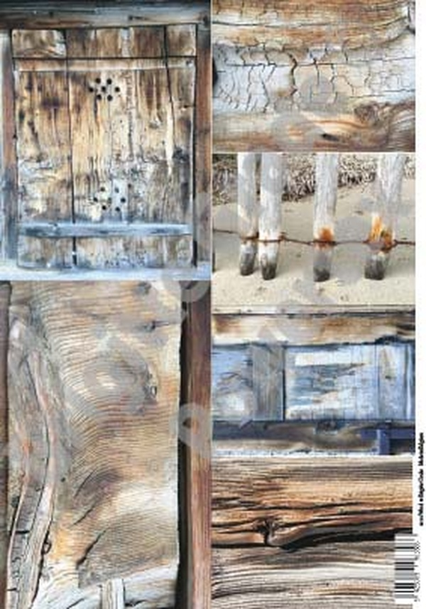 A3 Art Print of Wood to use for photo transfers or collage - Powertex Australia