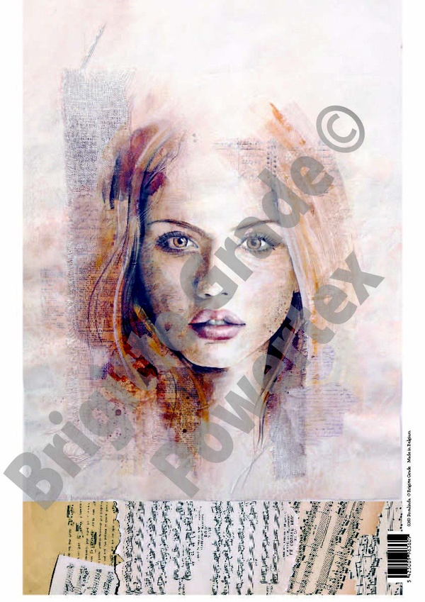 """A3 Art Print of """"Rosalinda"""" to use for photo transfers or collage, Powertex Australia"""