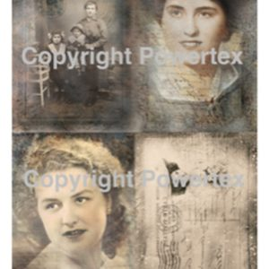 "A3 Art Print ""My Loved Ones"" to use for photo transfers or collage, Powertex Australia"