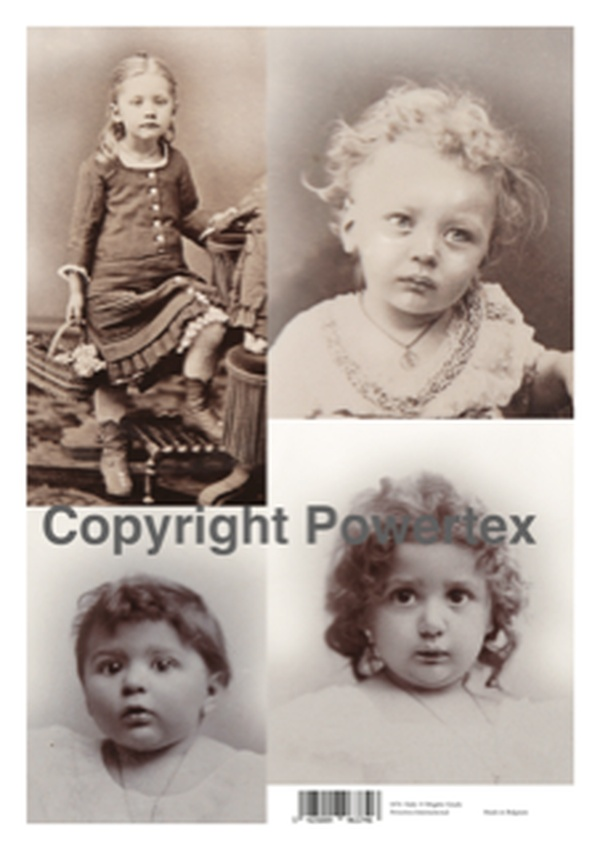 """A3 Art Print of """"Kids"""" to use for photo transfers or collage, Powertex Australia"""