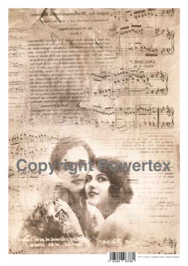"A3 Art Print ""Le Baiser"" to use for photo transfers or collage, Powertex Australia"