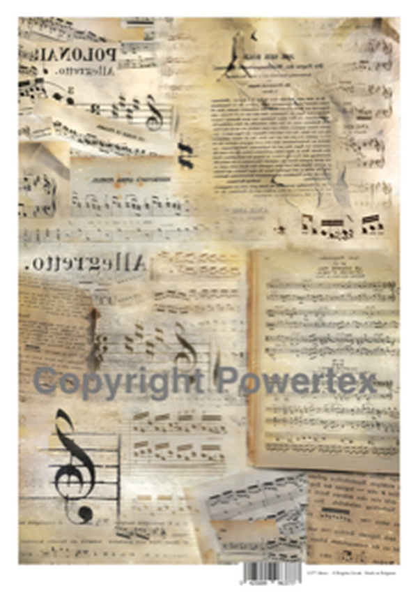 A3 Art Print of Music to use for photo transfers or collage, Powertex Australia