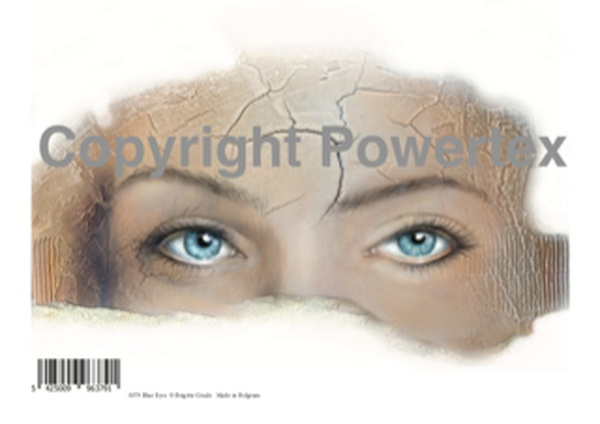 "A4 Art Print ""Blue Eyes"" to use for photo transfers or collage, Powertex Australia"