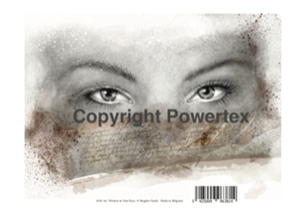 "A4 Art Print ""Written in Your Eyes"" to use for photo transfers or collage, Powertex Australia"