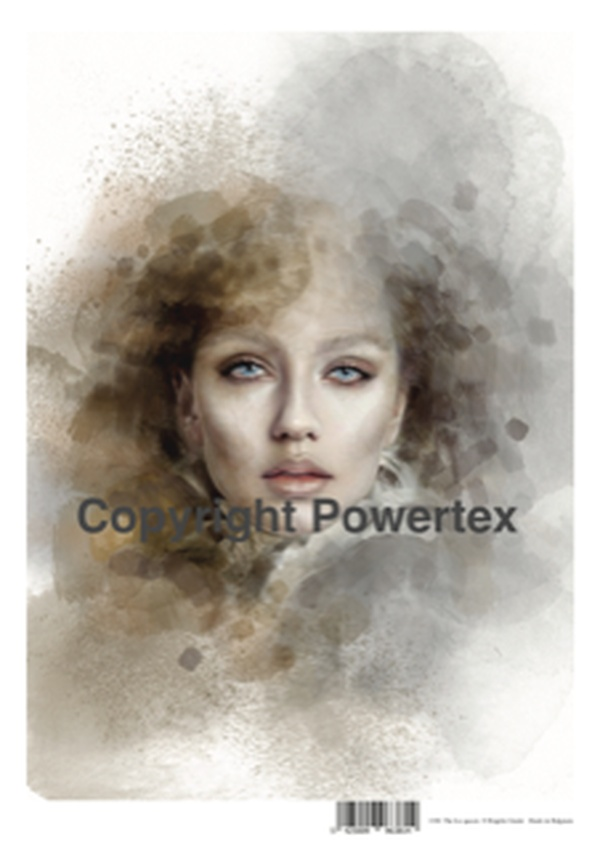 "A3 Art Print ""The Ice Queen"" to use for photo transfers or collage, Powertex Australia"