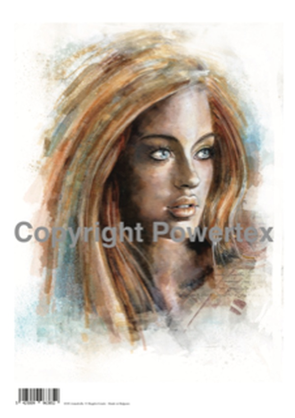 """A3 Art Print of """"Annabella"""" to use for photo transfers or collage, Powertex Australia"""
