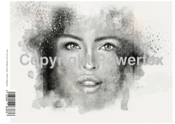 "A4 Art Print ""Lina"" to use for photo transfers or collage, Black and White, Powertex Australia"