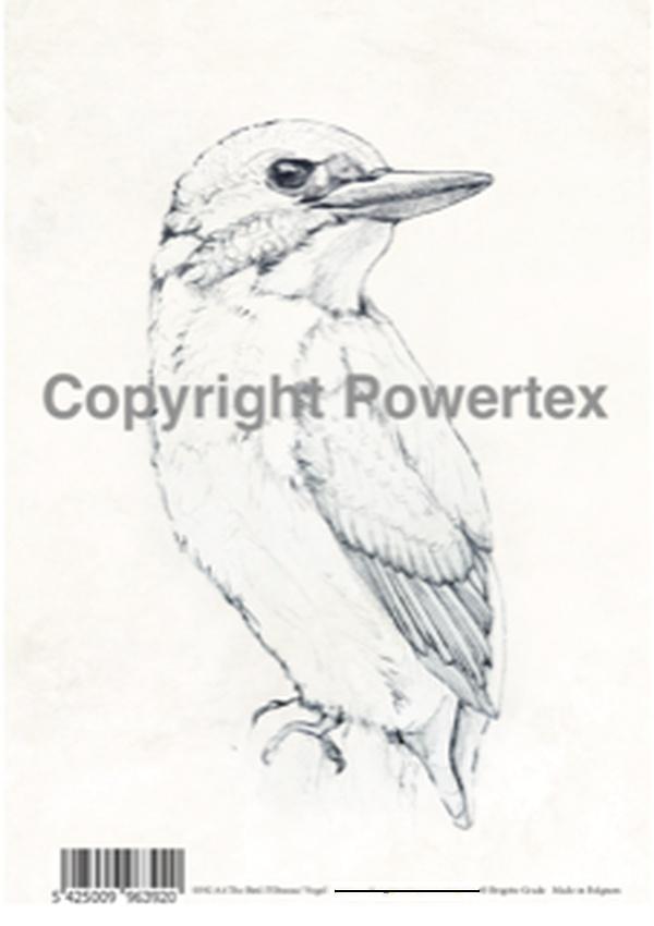 "A4 Art Bird Print ""Bird (B&W)"" to use for photo transfers or collage, Powertex Australia"