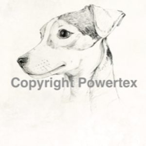 "A4 Art Dog Print ""Jack Russel"" to use for photo transfers or collage, Black and White, Powertex Australia"
