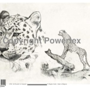 "A4 Art Animal Print ""Cheetah"" (B&W) to use for photo transfers or collage, Powertex Australia"