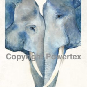 "A4 Art Animal Print ""Blue Elephants"" to use for photo transfers or collage, Powertex Australia"