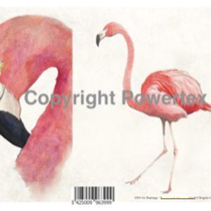 "A4 Art Bird Print ""Flamingo"" to use for photo transfers or collage, Powertex Australia"