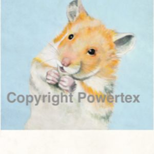 "A4 Art Animal Print ""Hamster"" to use for photo transfers or collage, Powertex Australia"