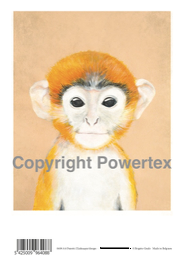 "A4 Art Animal Print ""Monkey"" to use for photo transfers or collage, Powertex Australia"