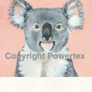 """A4 Art Animal Print """"Koala"""" to use for photo transfers or collage, Powertex Australia"""