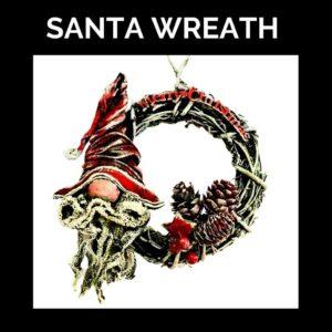 Santa Wreath Kit Available Powertex Australia Artwork by Natalie Parish