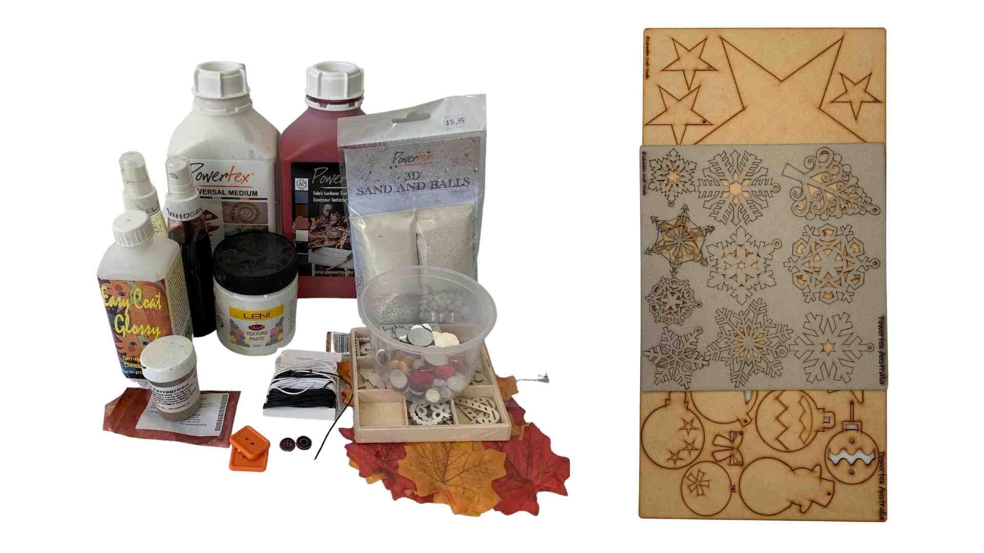 Materials Powertex Christmas Tree by Erika Venter