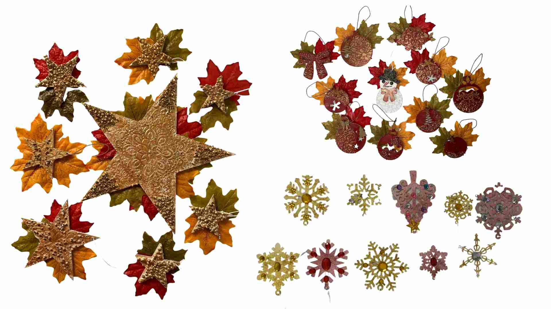 Adding Leaves Powertex Christmas Tree by Erika Venter
