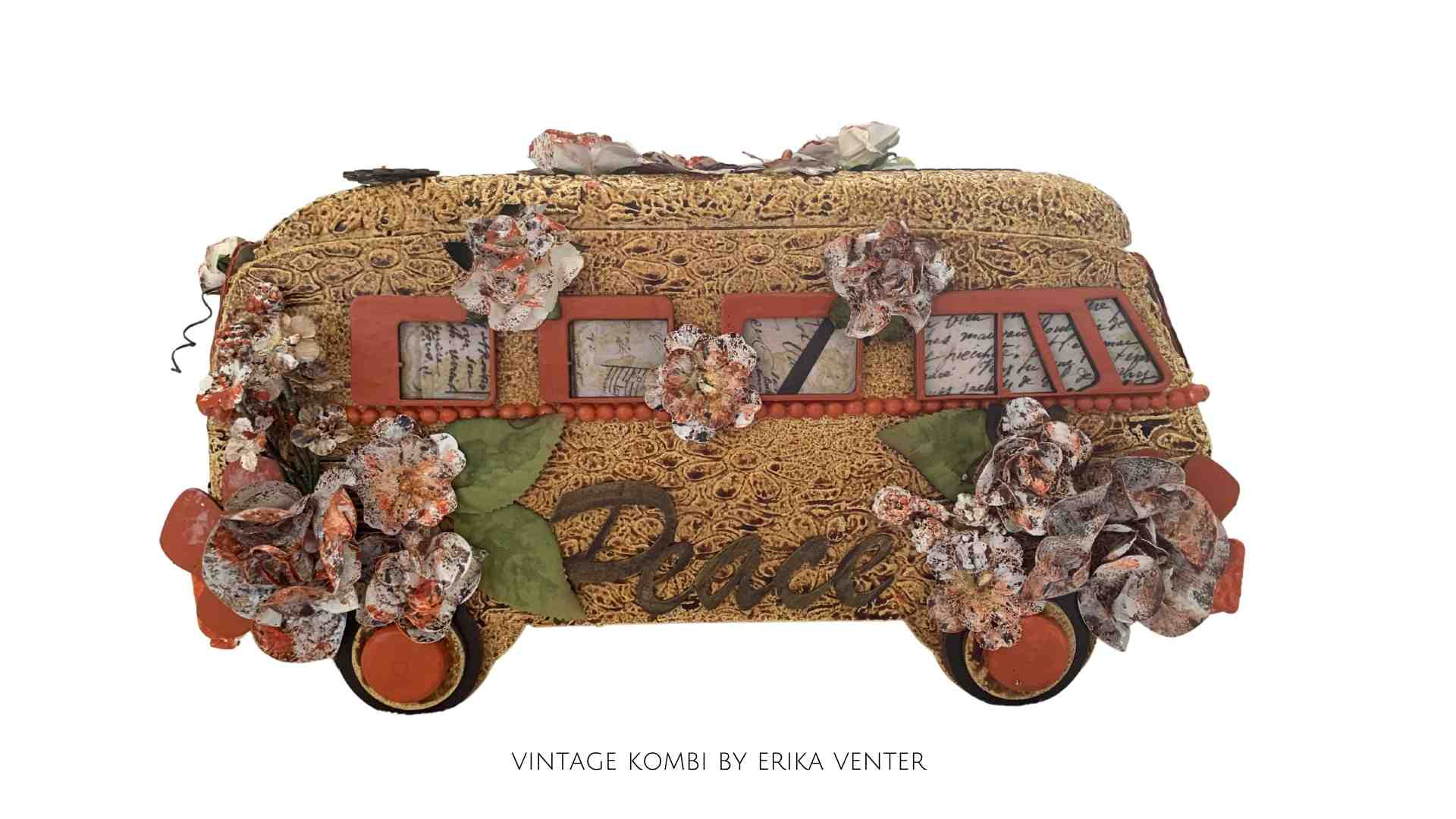 Make your own Vintage Camper as you follow the step by step instruction in this new DIY tutorial by Erika Venter - Powertex Australia Design Team
