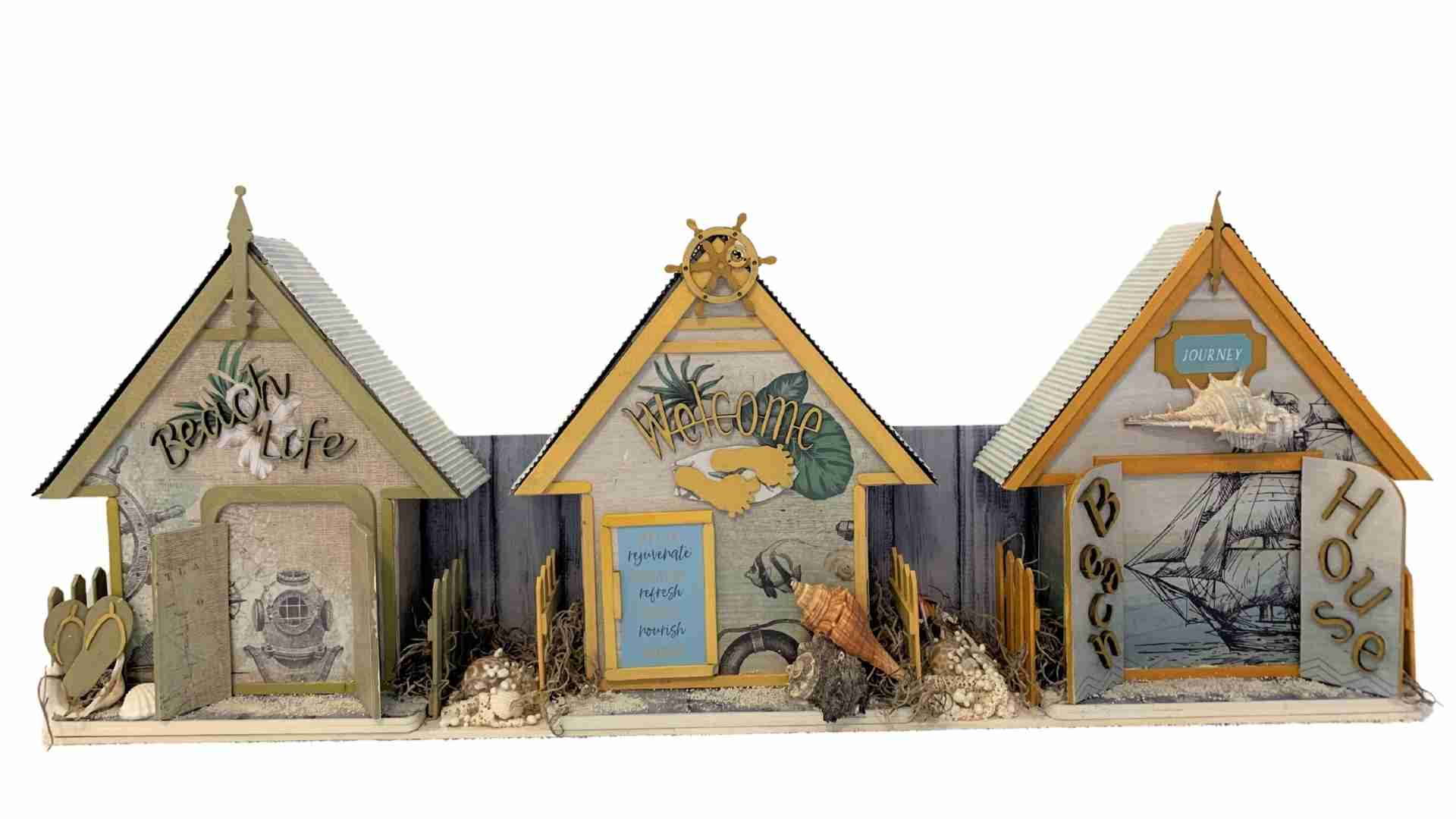 Beach Houses by Erika Venter QLD. Available from Powertex Australia