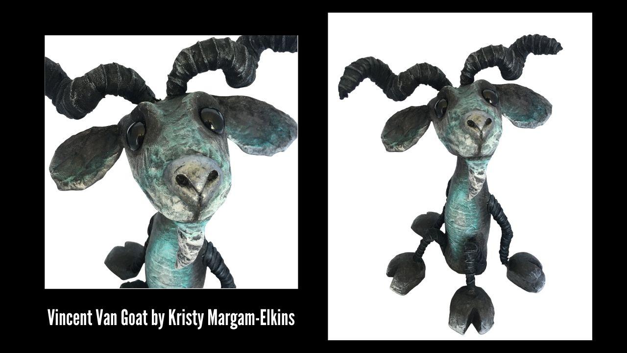 Vincent Van Goat by Kristy Margam-Elkins WA - Created with Powertex.