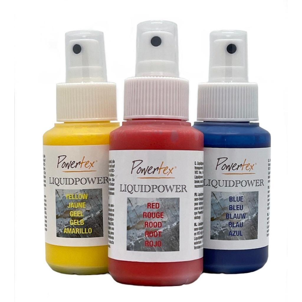 Liquidpower vibrant water-based Art Sprays from Powertex Art Supplies